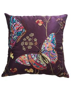 aubergine Butterfly Cushion Cover