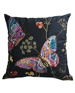 Black Butterfly Cushion Cover