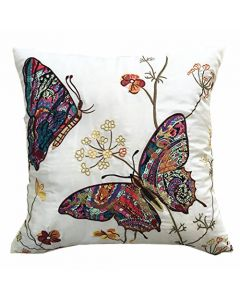 cream Butterfly Cushion Cover
