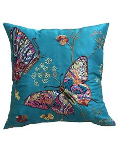 teal Butterfly Cushion Cover