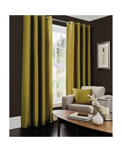 Faux Silk Curtains - green