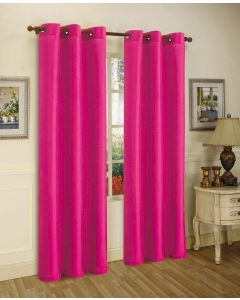 Faux Silk Curtains - pink