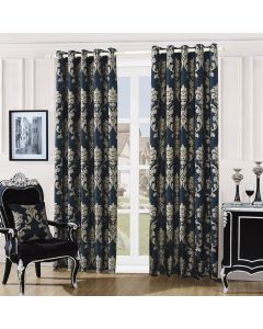 Damask Curtains - Black