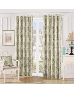 Damask Curtains - mink