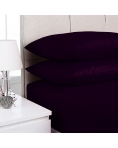 Hometex Fitted Sheet - aubergine