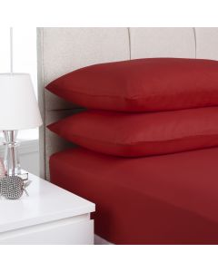 Hometex Fitted Sheet - red