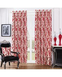 Swirl Curtains - red