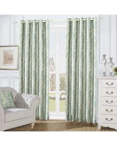 Swirl Curtains - teal