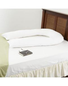 U Shaped Support Pillowcase Only - White
