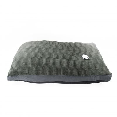 Textured Grey Dog Bed