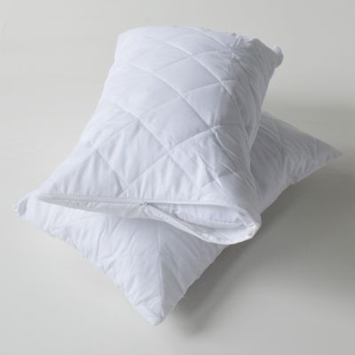 Zipped Pillow Protector (2) - Quilted