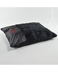 Black Fur Dog Bed