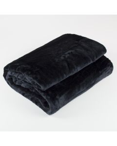 Black Fur Throw