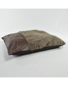 brown Fur Dog Bed