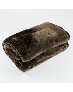 Chocolate Fur Throw