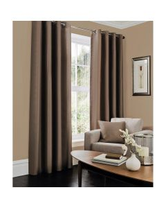 Faux Silk Curtains - brown