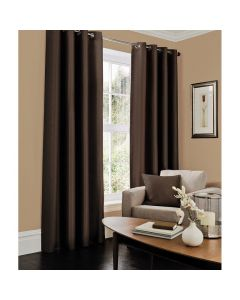 Faux Silk Curtains - chocolate