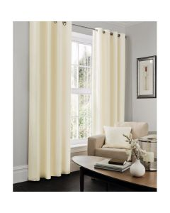Faux Silk Curtains - cream