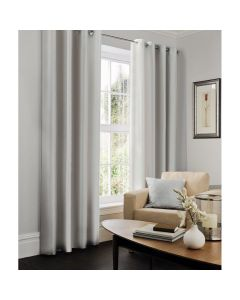 Faux Silk Curtains - silver