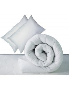 10.5 Tog Cotton Duvet & Pair of Pillows