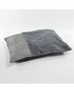 grey Fur Dog Bed