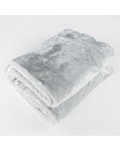 Silver Fur Throw