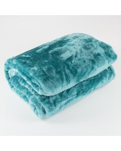Teal Fur Throw